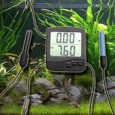 Kombi PH/EC Meter Messgerät Leitwert Messer ms µS Salzwasser P22