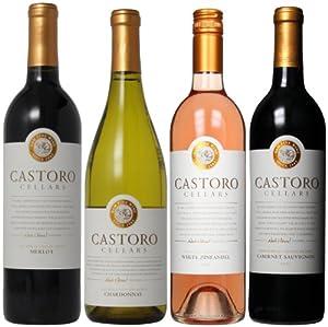 Castoro Cellars Red, White and Blushing Wine Mixed Pack, 4 x 750 mL