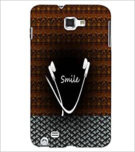 PrintDhaba Smile D-5989 Back Case Cover for SAMSUNG GALAXY NOTE 1 (Multi-Coloured)
