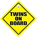Twins On Board Car Sign, Twins On Boa...
