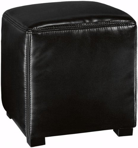 Tracie Basic Leather Ottoman, 16