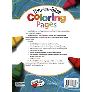Thru-the-Bible Coloring Pages (Ages 6-8) (HeartShaper® Resources—Elementary)