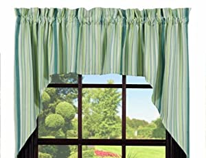 Curtains Lined Swag Mint 72 X36 Blue Green