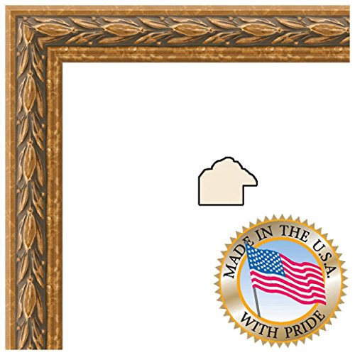 10X26 / 10 X 26 Picture Frame Antique Gold .. 1'' Wide