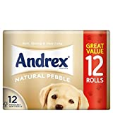 Andrex Natural Pebble Toilet Tissue Rolls (12)