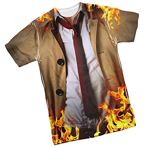 [Costume -- Constantine TV Show Front/Back Print Sports Fabric T-Shirt, X-Large] (Tv Show Costumes For Men)
