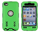 Gel Wrapped Hard Case for Apple iPod Touch 4G (4th Generation) – Green