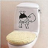 amazing-trading(TM) en vinyle pour salle de bain wc décor Sticker mural en vinyle autocollant plaque humoristique...