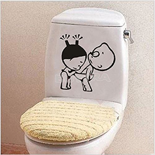 amazing-trading(TM) en vinyle pour salle de bain wc décor Sticker mural en vinyle autocollant plaque humoristique