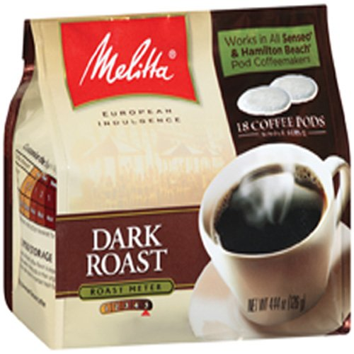 MELITTA Coffee Pods, Dark Roast, 4.41-Ounce (Pack of 3)