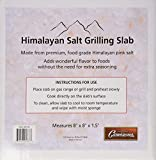 "Himalayan Salt Slab for Grilling (Large 8"" x 8"") - FDA Approved Seasoning Block for Cooking and Serving"