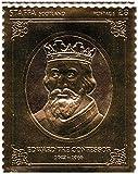 Sellos de oro - Staffa 1977 Reina Silver Jubilee rey Eduardo el Confesor 23k sello de la hoja de oro - alta calidad - montado Never - Nunca bisagras.