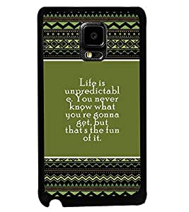 PRINTVISA The Embarasing Girl Premium Metallic Insert Back Case Cover for Samsung Galaxy Note Edge - D5839