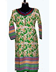 Visaga Women's Cotton Straight Kurti - B00UMWEQT2