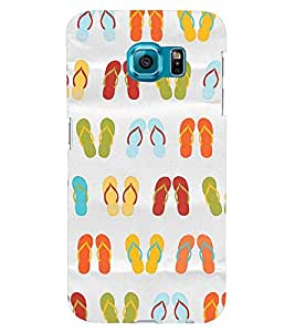 Printvisa Multicoloured Slippers Pattern Back Case Cover for Samsung Galaxy S6 Edge::Samsung Galaxy Edge G925