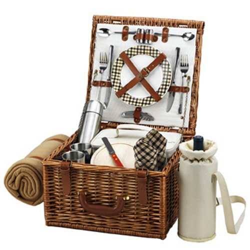Picnic At Ascot Cheshire Basket For 2 With Coffee Set And Blanket, London