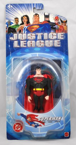 DC Comics Year 2003 Justice League Series 4-1/2 Inch Tall Action Figure - SUPERMAN with Display Base and Collectible Hologram Card