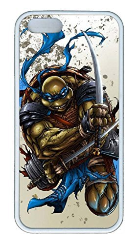 iPhone 5c Case, iPhone 5c Case, Hot Sale Teenage Mutant Ninja Turtles Leonardo Soft Rubber White/Black Bumper Case Back Cover Protector Skin For Iphone 5c 5c