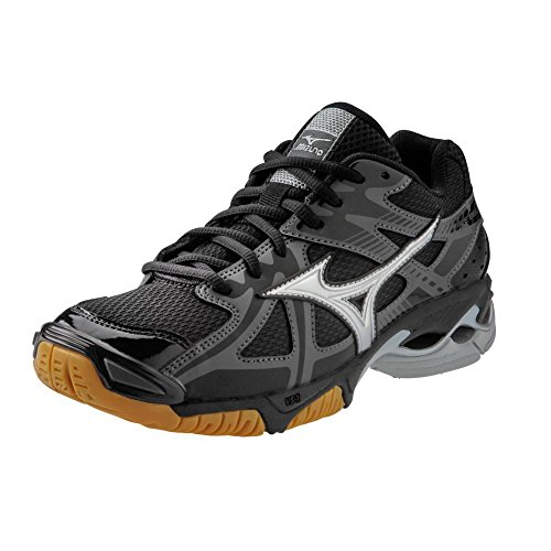 Mizuno Wave Bolt 4 Women's Volleyball Shoes - Black & Silver (Women's 8.5) primary