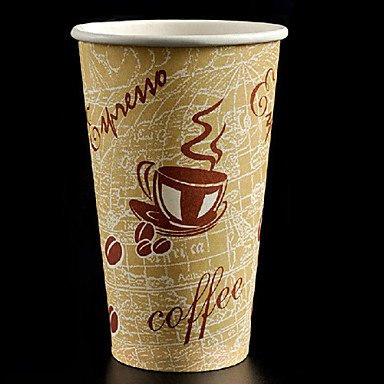 Kitchen boutique convenience and durability Thicken and Bigger Disposable Paper Coffee Cup,20oz,100Pcs/bag