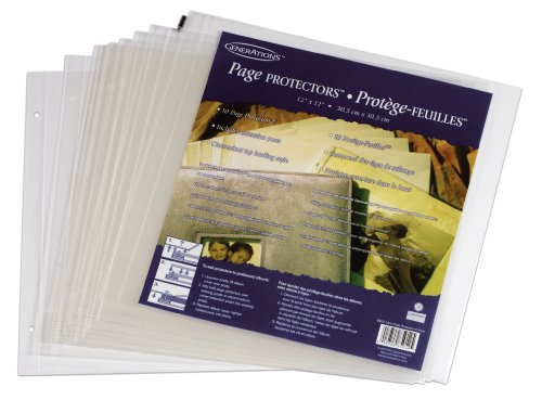 Generations Page Protector Refills with Extension Posts, 12 x 12 Inches, Top-Loading, Clear, 10 Per Pack (85912GE) (12x12 Top Loading Refills compare prices)