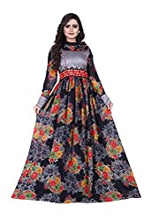 B4Best Creation New Designer Black Color Georgette Party-Festive Wear Gowns