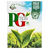 PG Tips 80 Pyramid Teabags 250 g (Pack of 6)