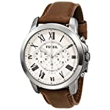 Fossil FS4735 Grant Brown Leather Watch