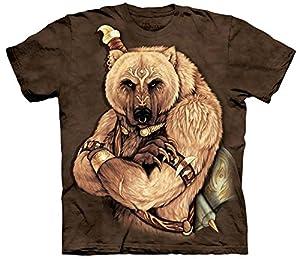Tribal Bear Bär als indianischer Krieger Erwachsenen T-Shirt von The Mountain von The Mountain