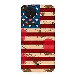 Delighted Grunge USA Flag Multicolor Back Case Cover for Micromax Canvas A1
