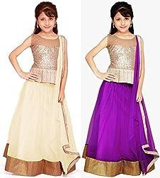 fancy designer semistitched kids lehenga choli pack of two
