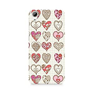 Motivatebox- So Many Hearts Premium Printed Case For HTC 626 -Matte Polycarbonate 3D Hard case Mobile Cell Phone Protective BACK CASE COVER. Hard Shockproof Scratch-