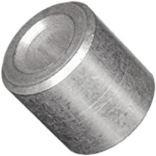 "Round Spacer, 2011 Aluminum, Plain Finish, #4 Screw Size, 1/4"" Length (Pack of 10)"