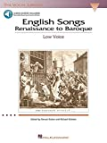 English Songs: Renaissance to Baroque: The Vocal Library Low Voice (Vocal Collection) (0634038664) by Walters, Richard