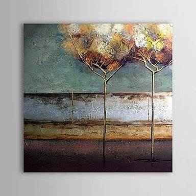 Sanbay Art 100% Hand Painted Oil Paintings on Canvas Hot Sale Abstract Tree Wood Framed Inside 1-piece Set Artwork for Living Room Kitchen and Home Wall Decoration