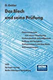img - for Das Blech und seine Pr fung (German Edition) book / textbook / text book