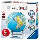Ravensburger - 11118 - Puzzle - Puzzleball 540 Pièces - Mappemonde avec support rotatif