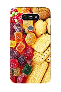 Omnam Colorful Jellies And Cookies Printed Designer Back Cover Case For LG G5