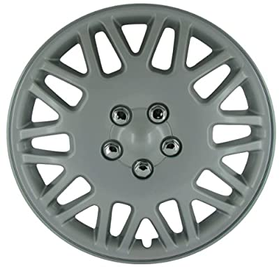 CCI IWC406-15S 15 Inch Clip On Silver Finish Hubcaps - Pack of 4