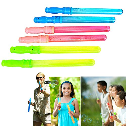 Dazzling Toys Big Bubble Wand Assortment Party Pack - Pack of 6