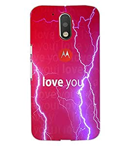 PrintDhaba Man with Quote D-1035 Back Case Cover for MOTOROLA MOTO G4 PLUS (Multi-Coloured)