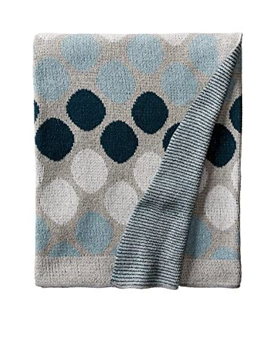bambeco Recycled Cotton Throw/Blanket, Slate