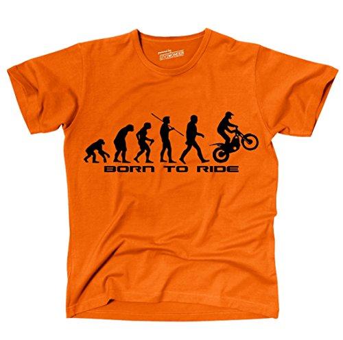 siviwonder-unisex-t-shirt-trial-evolution-trialer-motorrad-lustig-spruche-orange-l