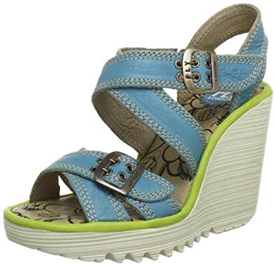 Fly London Womens PALA Sandals Yellow Gelb (turquoise