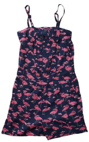 Yumi Girls Flamingo Girl's Jumpsuit Navy 5-6