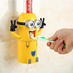 House of Quirk HOT Minions Toothbrush Holder Automatic Toothpaste Minion Dispenser With Brush Cup Bathroom Set accessories Product