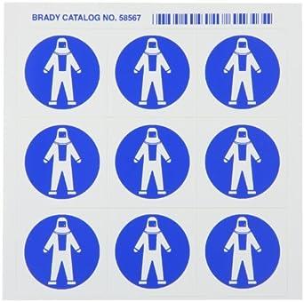 """Traje de protección completo"""" Pictograma (9 por tarjeta, tarjeta de 1"""