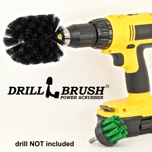 Brush Attachment Accessory for Cordless Battery Drill