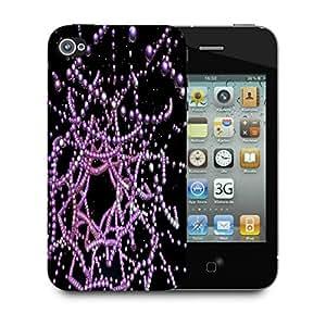 Snoogg Digital Fractal Structure Designer Protective Back Case Cover For Apple Iphone 4