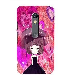 Fuson Girl With Umbrella Case Cover for Motorola Moto X play